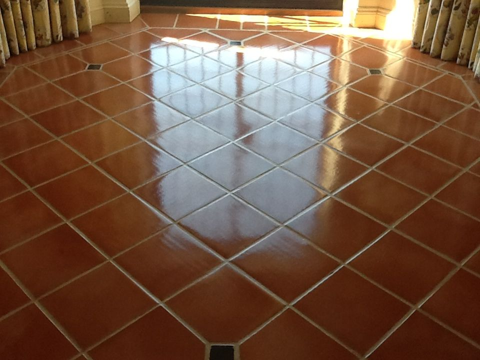 Terracotta Tiled Floor Cleaned And Sealed Tile Cleaners