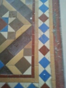 Cleaning Tile of a Victorian Floor