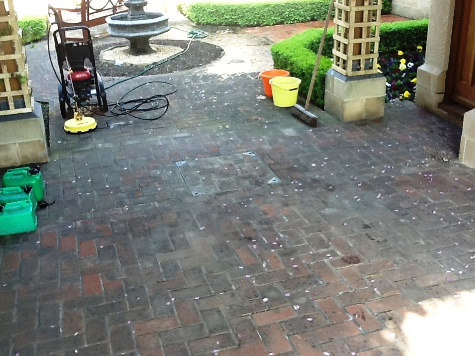 Courtyard Tiles Cleaning
