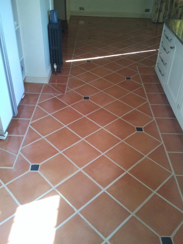 Terracotta Floor in the Kitchen