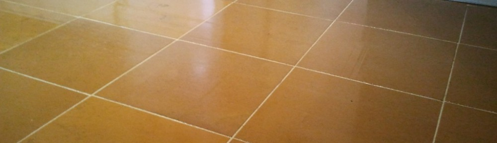 Indian Orange Slate Floor After Cleaning