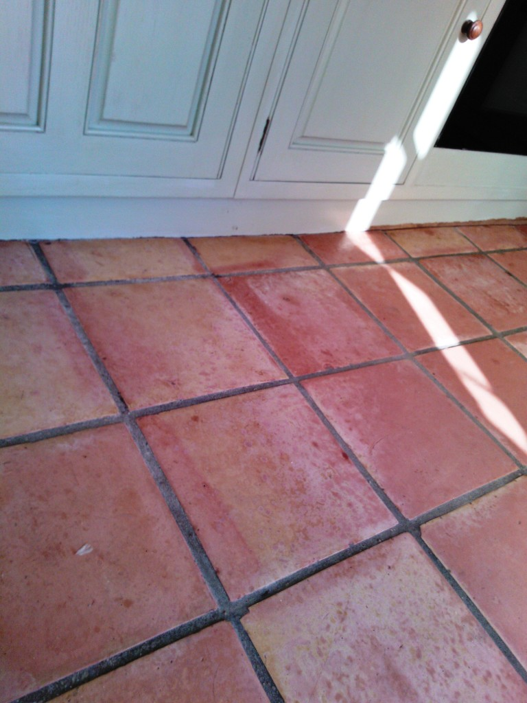 Saltillo Tiles before cleaning
