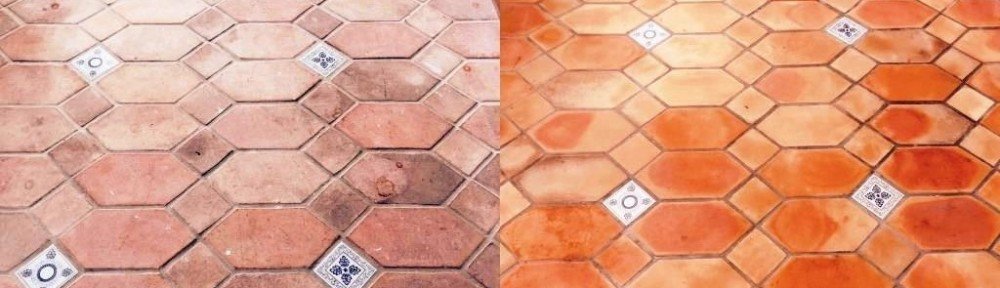 Terracotta Conservatory Cranliegh Before and After Cleaning