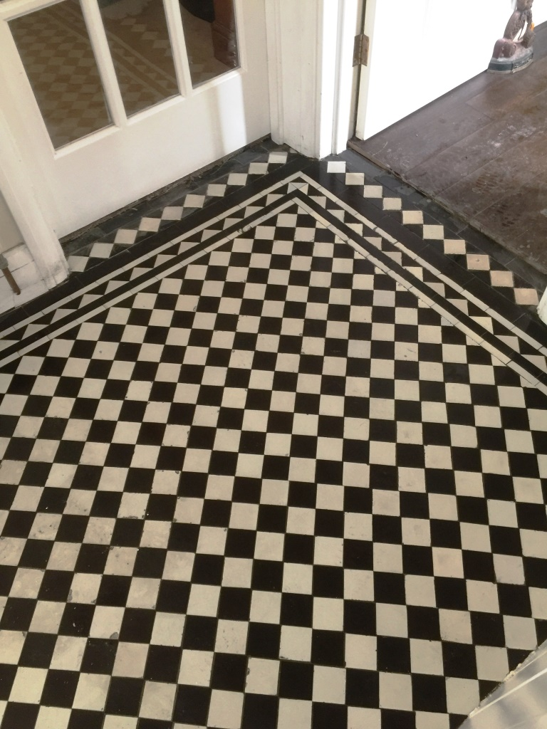 Victorian Hallway Floor West Byfleet After Cleaning