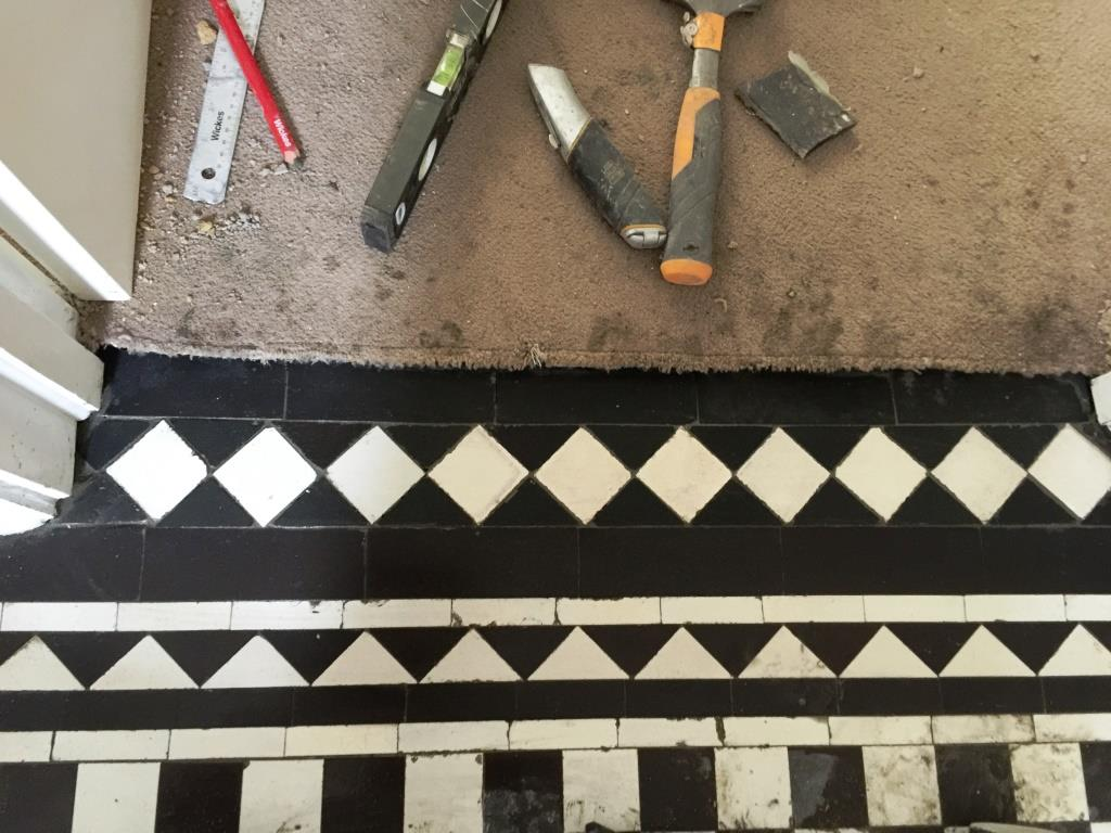 Victorian Hallway Floor West Byfleet Tile Installation