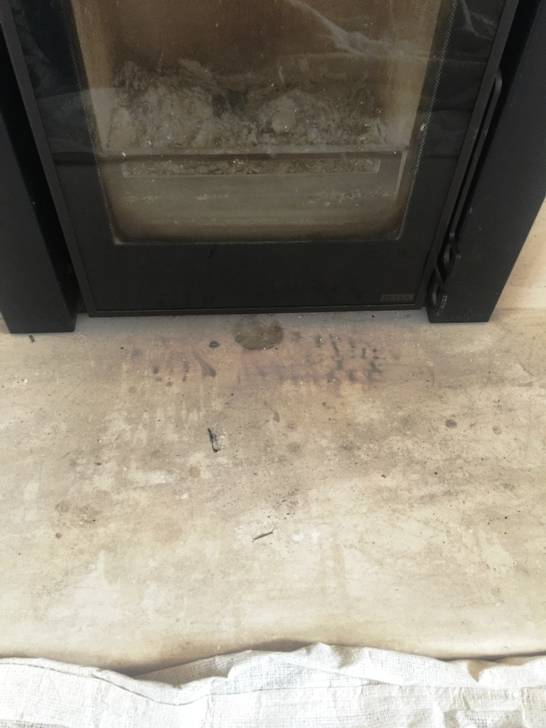 Stone Fireplace Before Cleaning East Byfleet