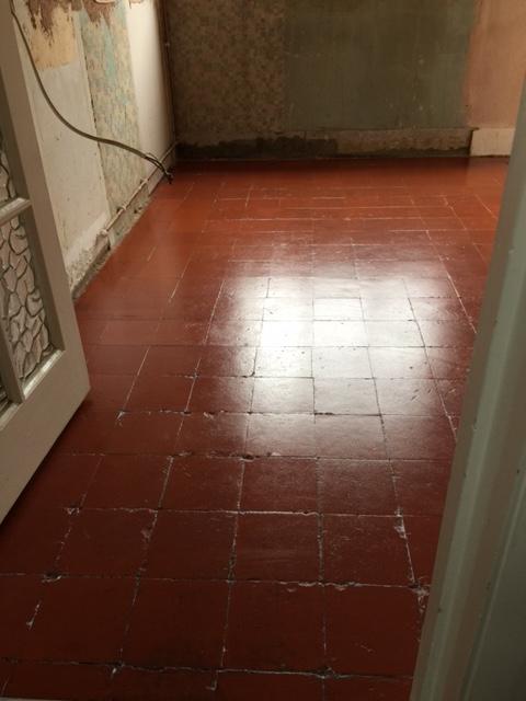 Quarry Tiled WC Floor After Restoration Woking