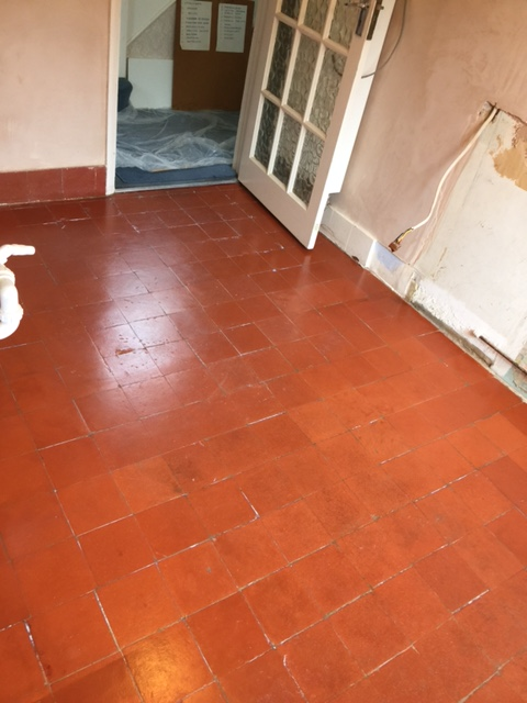 Quarry Tiled Floor After Restoration Woking