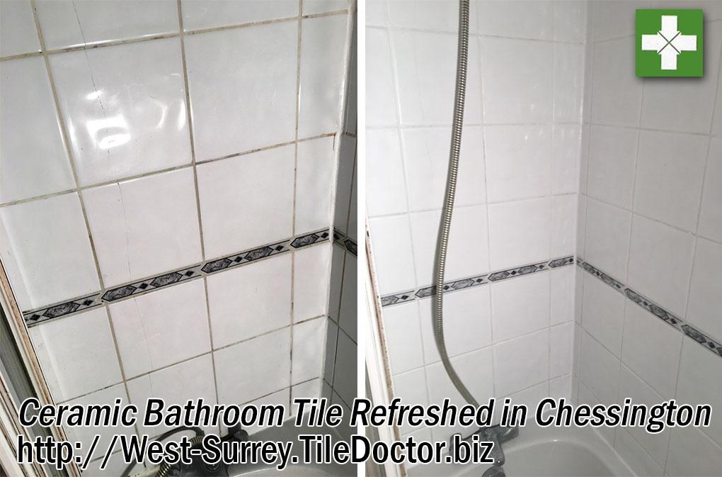 Ceramic Bathroom Tiles Refreshed in Chessington