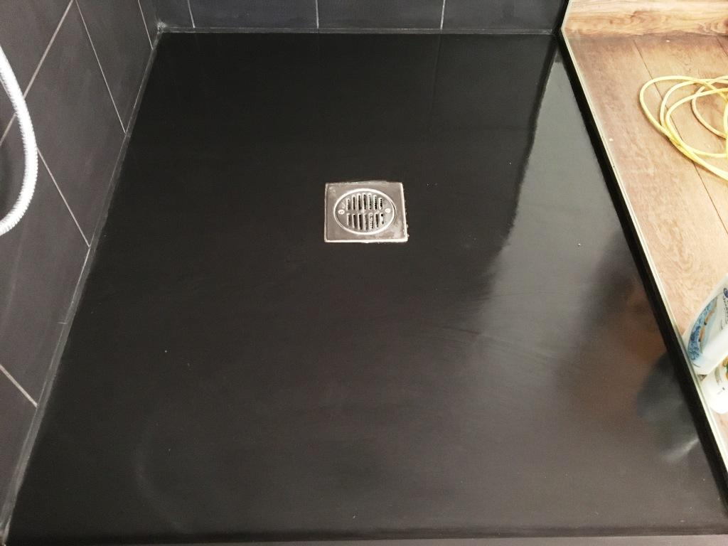 Badly Marked Slate Shower Tray in Clapham After Restoration