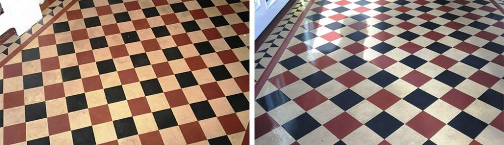 Lifeless Victorian Tiled Hallway Cleaned and Sealed in Weybridge
