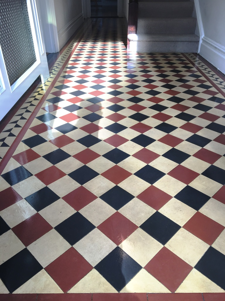 Victorian Tiled Hallway Floor After Cleaning Weybridge