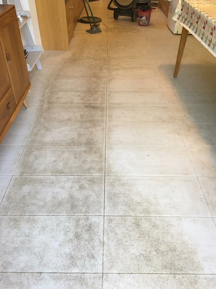 Porcelain Tiled Floor Before Cleaning Windlesham
