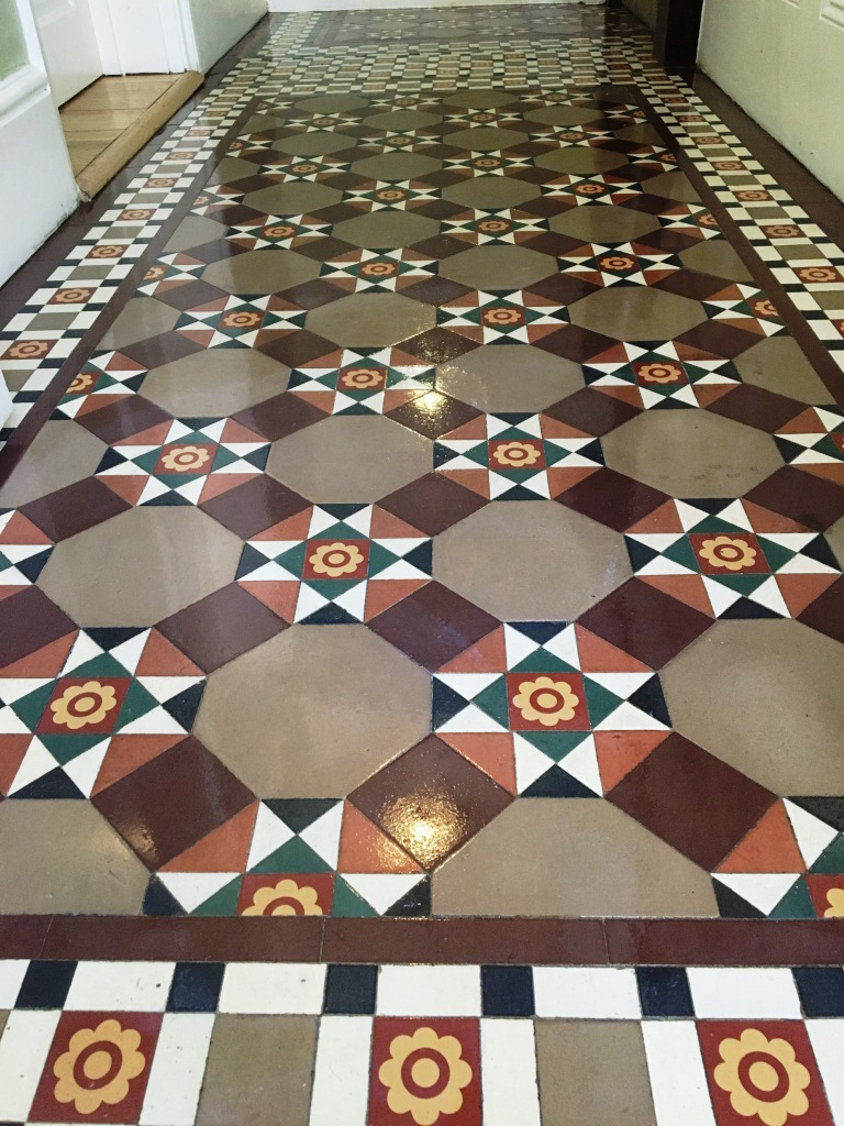 Victorian Floor Tile After Cleaning Esher