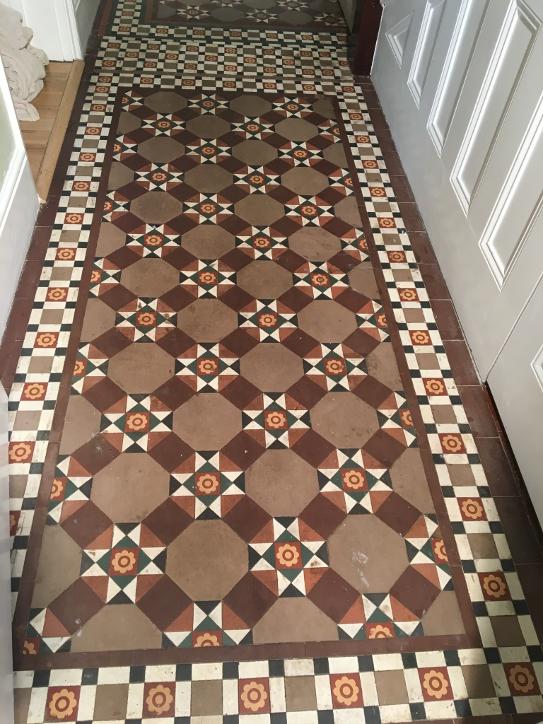 Victorian Floor Tile Before Cleaning Esher