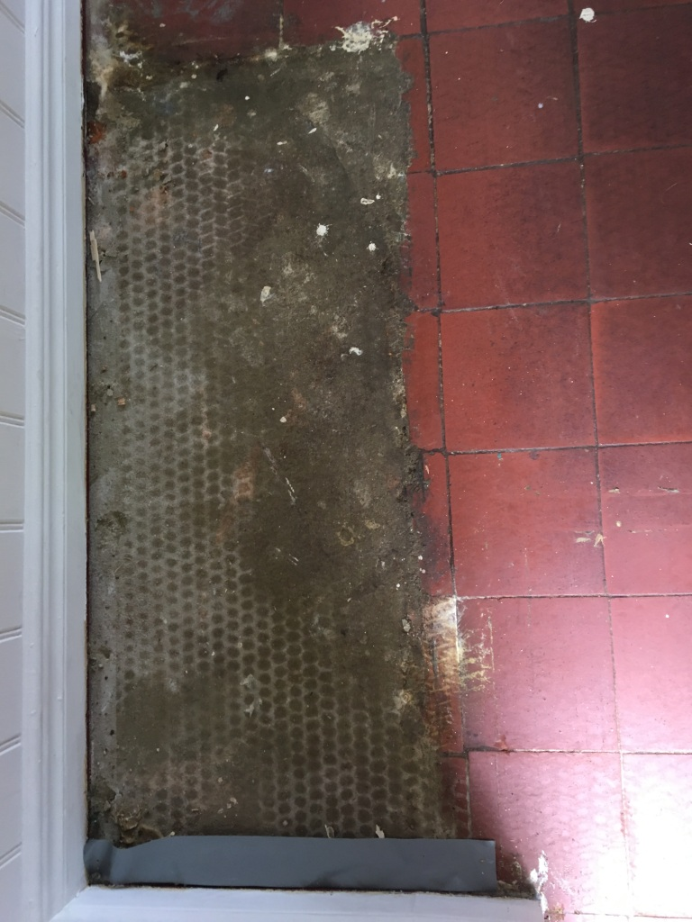 Quarry Tiled Floor Before Cleaning Haslemere
