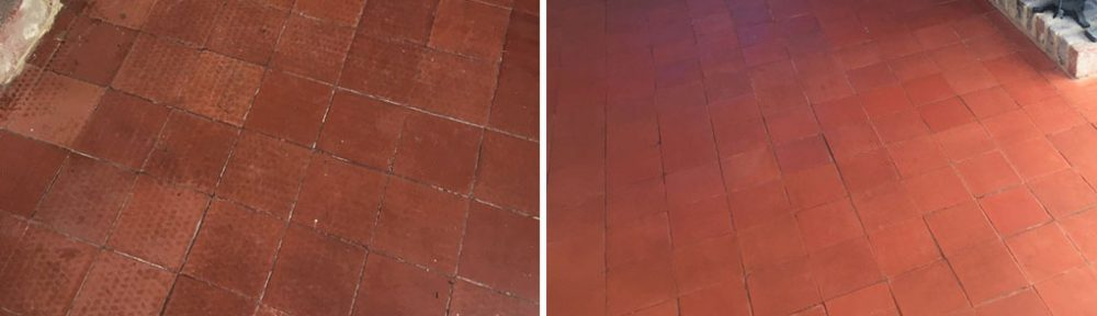 Quarry Tiled Floor Restored at Historic Cottage in Dunsfold
