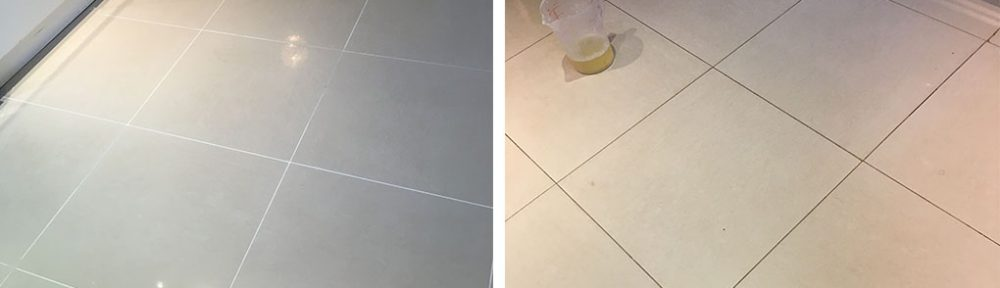 Replacing White Grout With Grey in Cobham