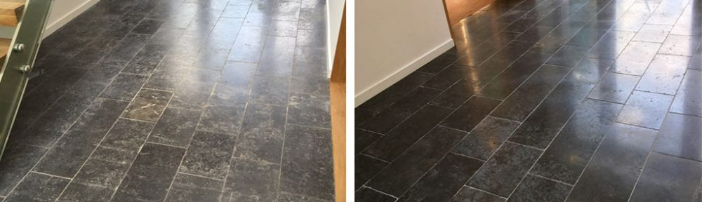 New Black Limestone Floor Issues Resolved in Godalming