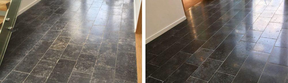 New Black Limestone Floor Issues Resolved in Godalming