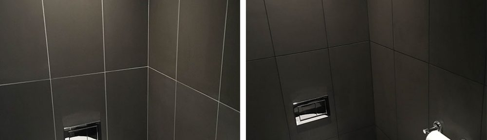 Correcting Tilers Grout Colour Mistake in a Cobham Bathroom