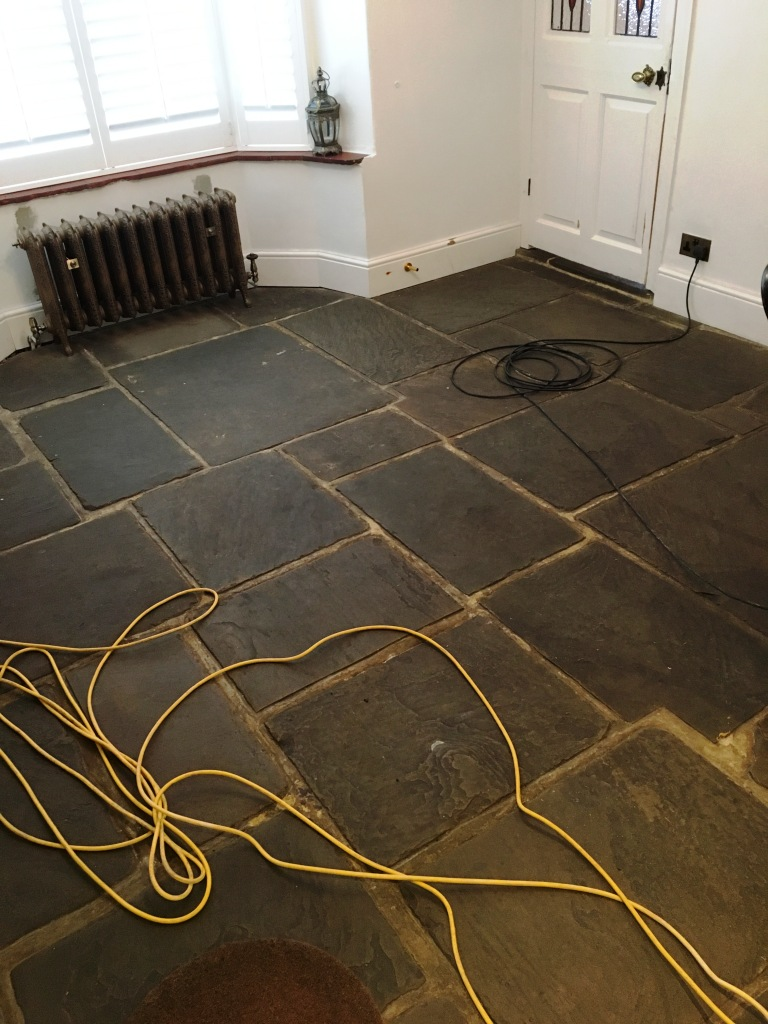 400 Year Old Flagstone Floor Before Restoration Ripley