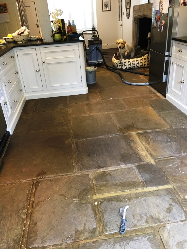 400 Year Old Flagstone Floor During Restoration Ripley