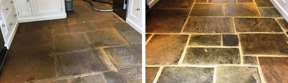 400 Year Old Dirty Flagstone Floor Renovated in Ripley