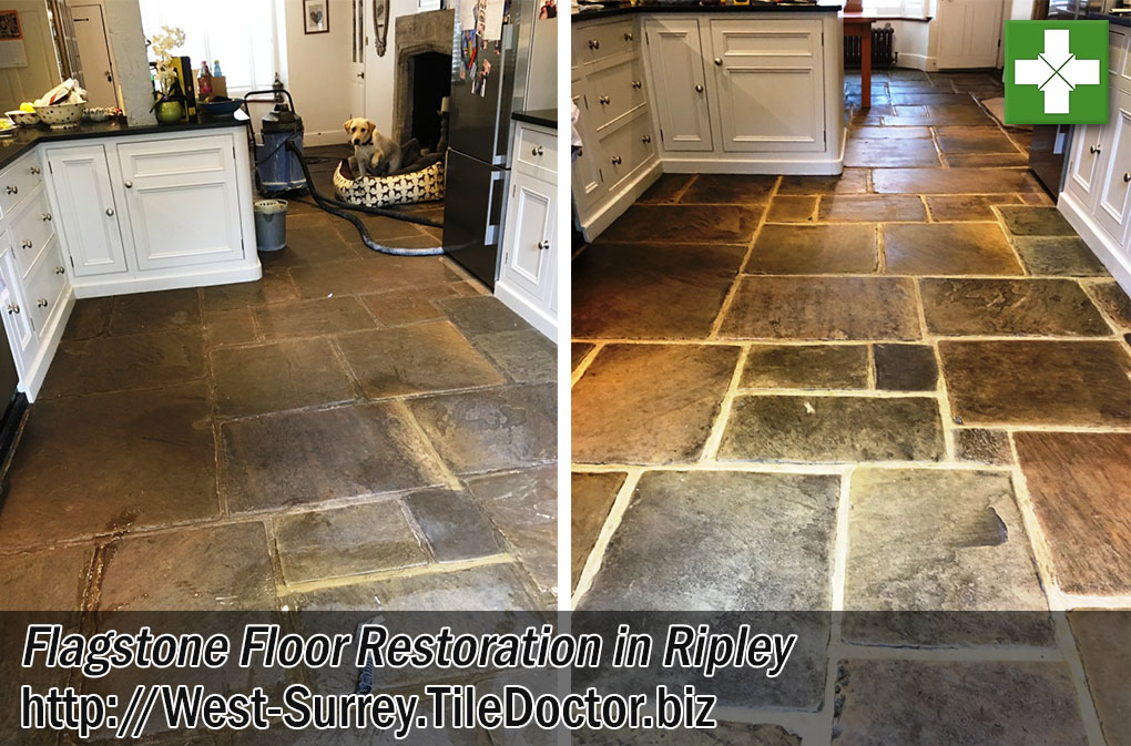Flagstone Tiled Floor After Restoration Ripley