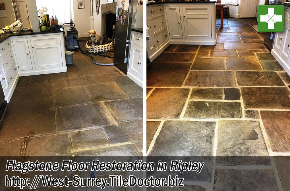 Flagstone Tiled Floor After Restoration Ripley