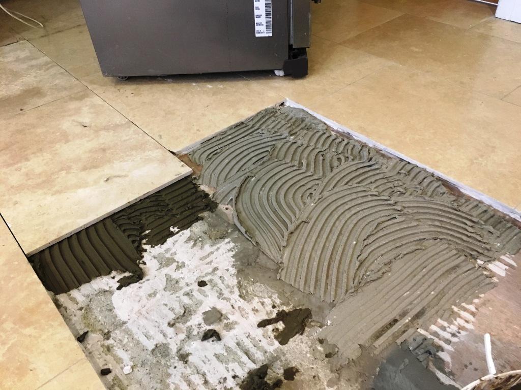 Travertine Floor Issues During Restoration Cobham