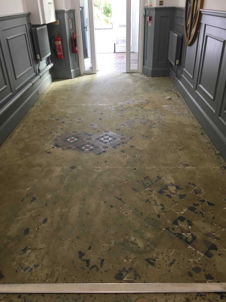 Victorian Floor Before Renovation Weybridge College