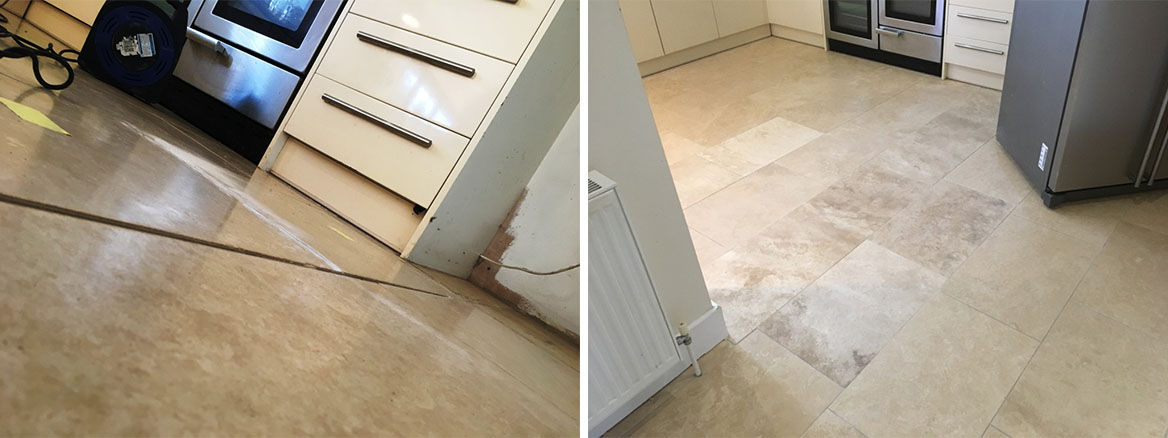 Travertine Floor Issues Before and After Restoration Cobham