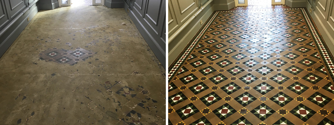 Victorian Floor Before and After Sealing Weybridge College
