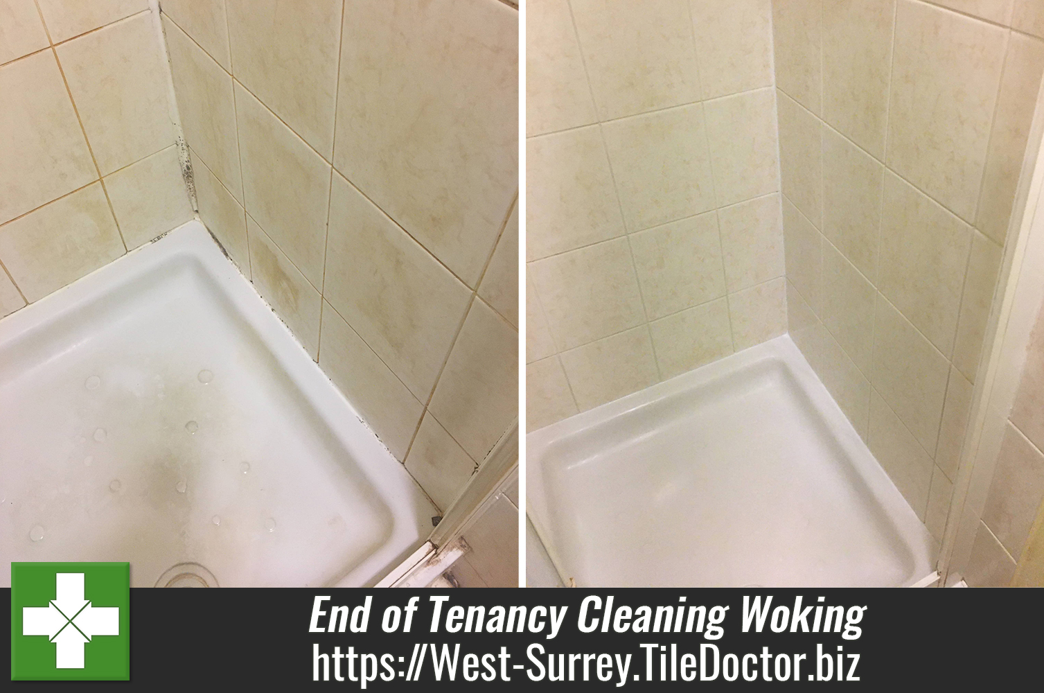 End of Tenancy Shower Cubicle Renovation in Woking