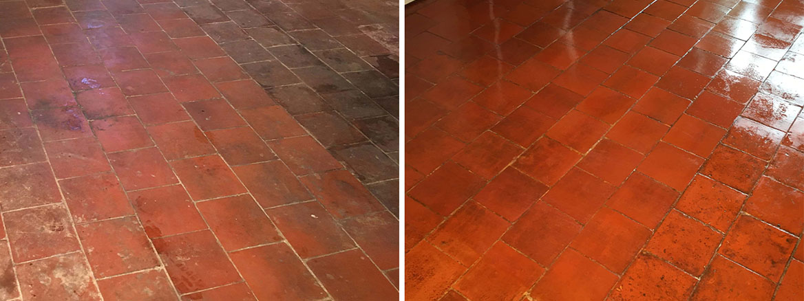 Old Terracotta Floor Renovated in Leatherhead