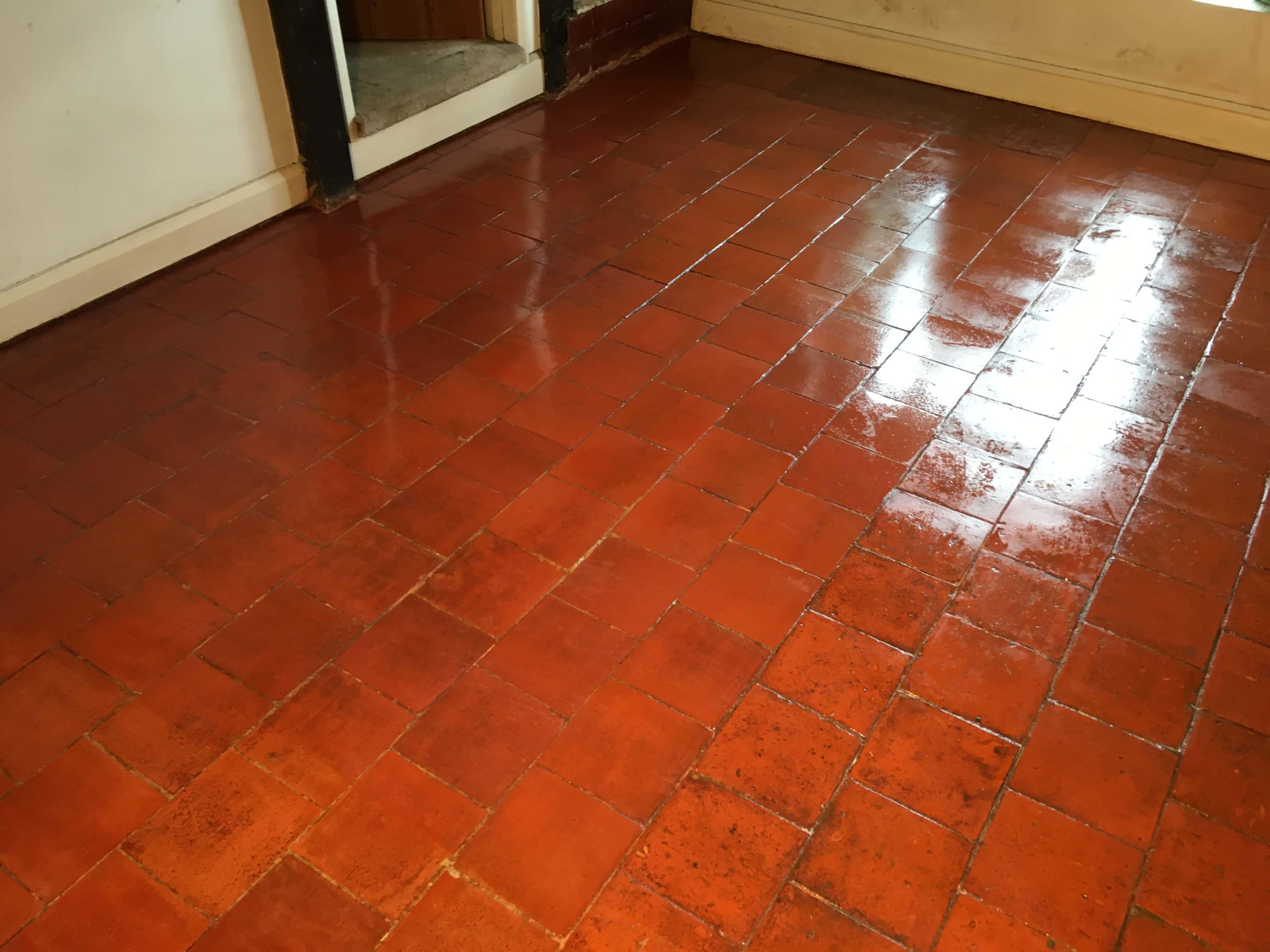 Terracotta Tiled Floor After Restoration Leatherhead