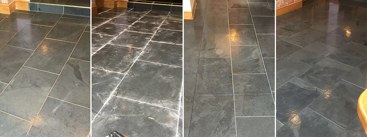 Maintaining a Slate Tiled Kitchen Floor in Epsom