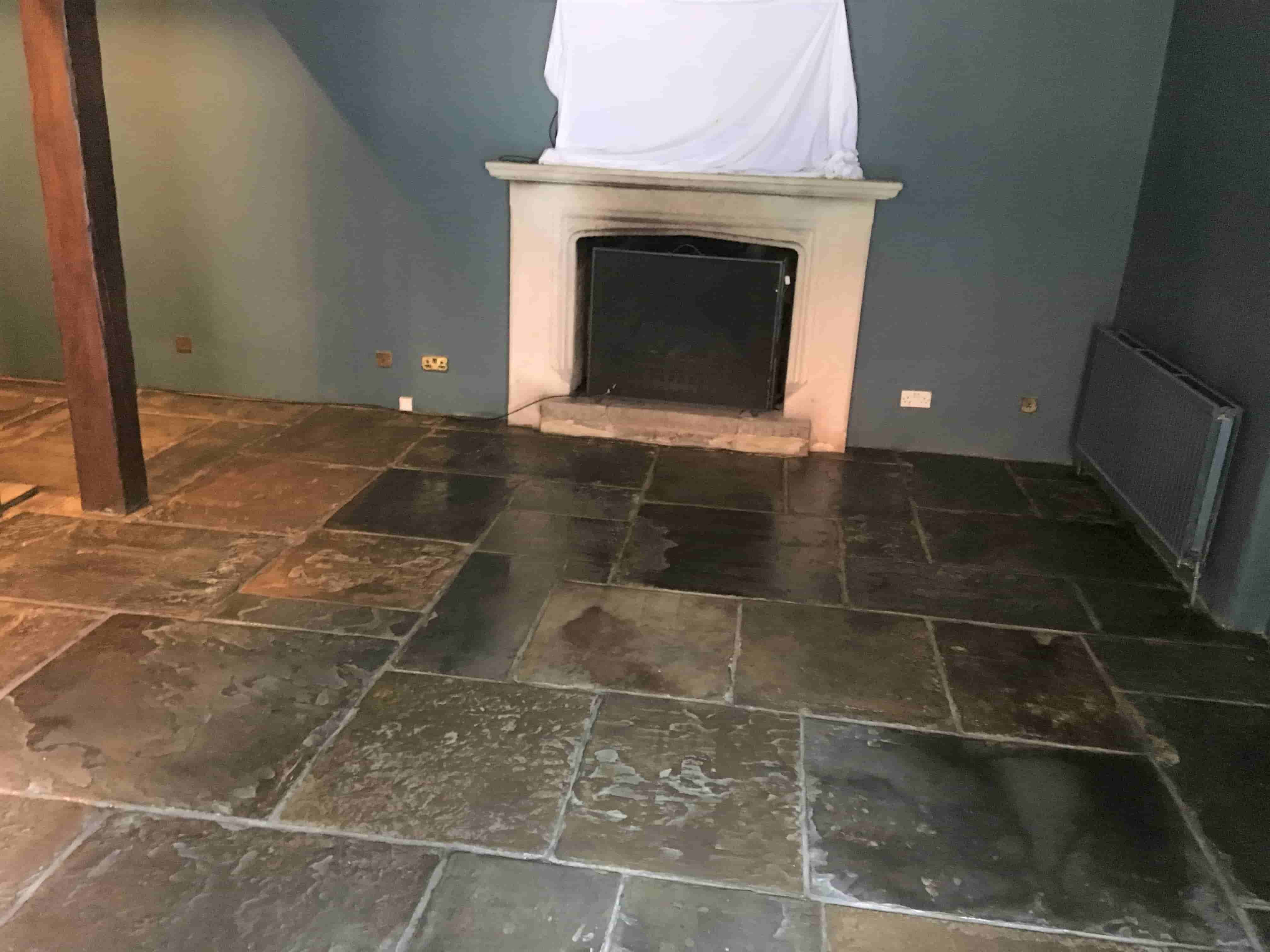 300 Year Old Sandstone Flagstone Floor After Sealing Pirbright_Mill