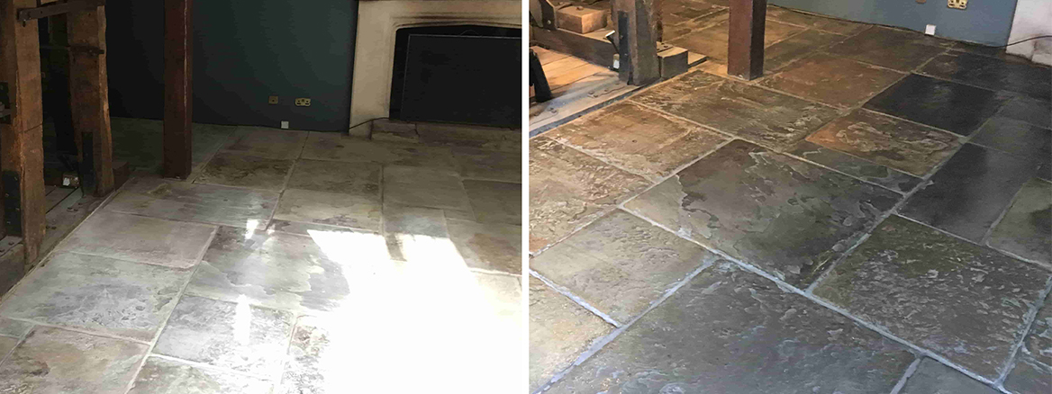 300 Year Old Sandstone Floor Renovation at Pirbright Mill