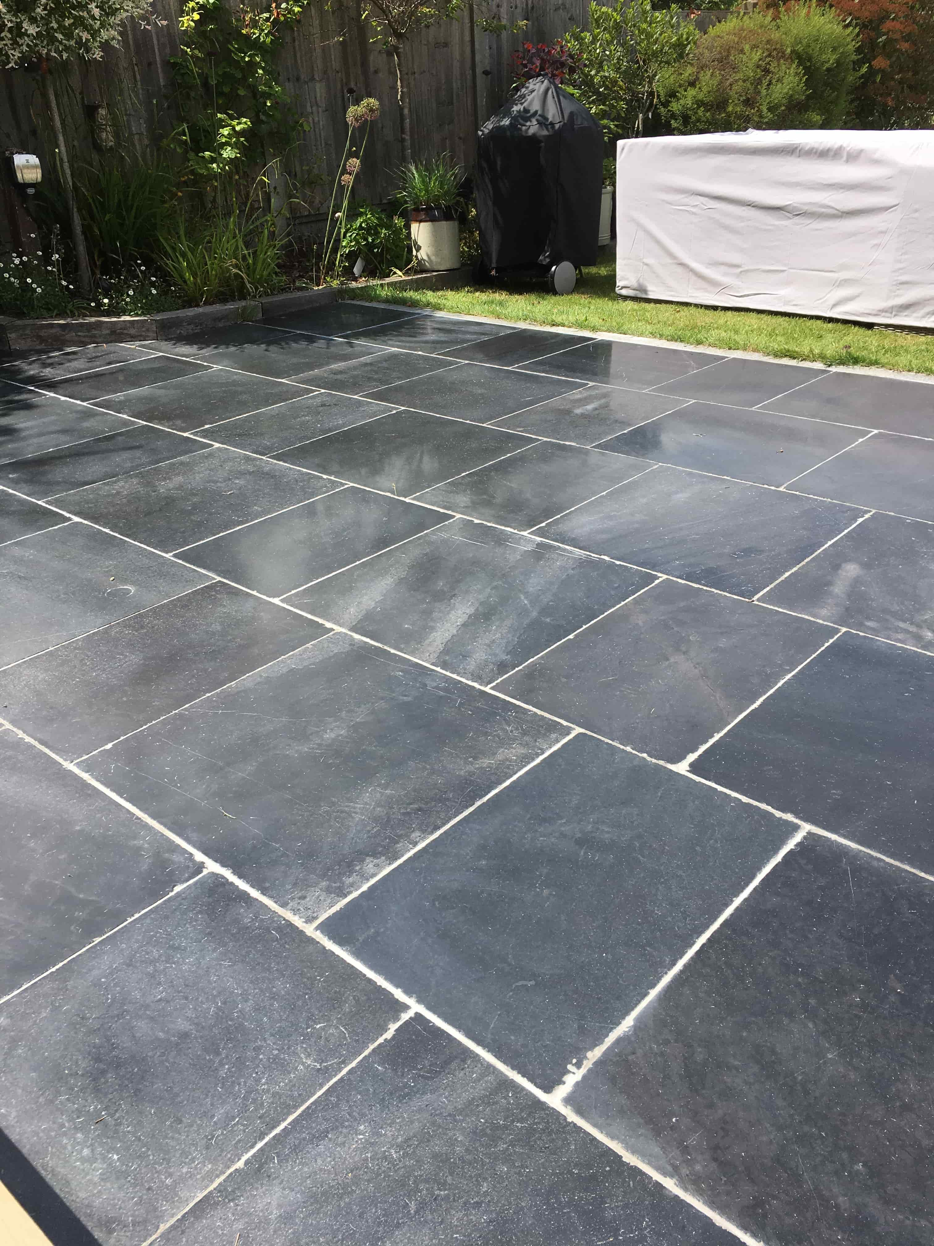 Limestone Patio After Cleaning Farnham